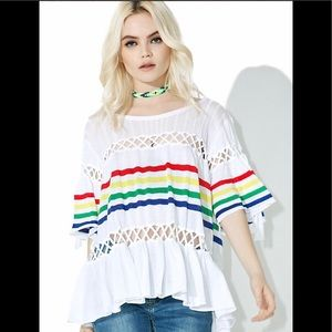 💋Wildfox Couture NWT  SOUTH BEACH STRIPE SWEATER